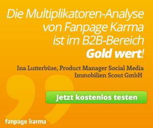 Jetzt Fanpage Karma kostenlos testen