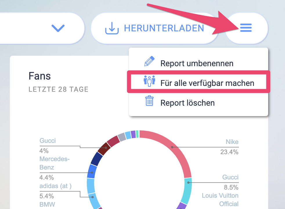 Social-Media-Report-Vorlagen erstellen und teilen